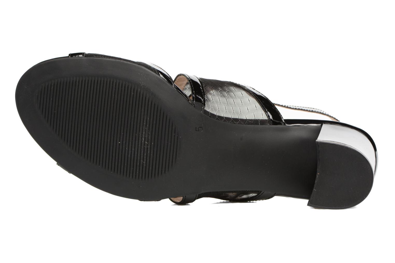 Sandales et nu-pieds Caprice Blanka Noir vue haut