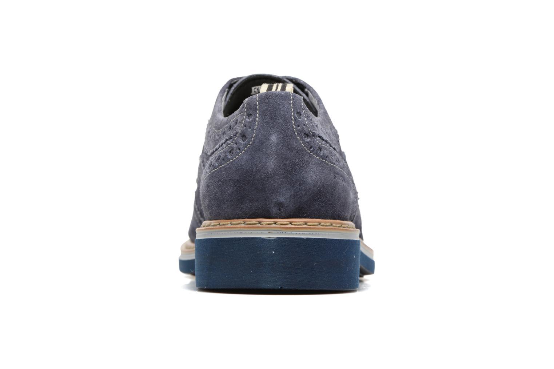 Zapatos con cordones Stonefly Alby 1 Azul vista lateral derecha