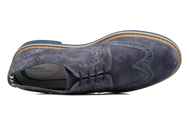 Zapatos con cordones Stonefly Alby 1 Azul vista lateral izquierda