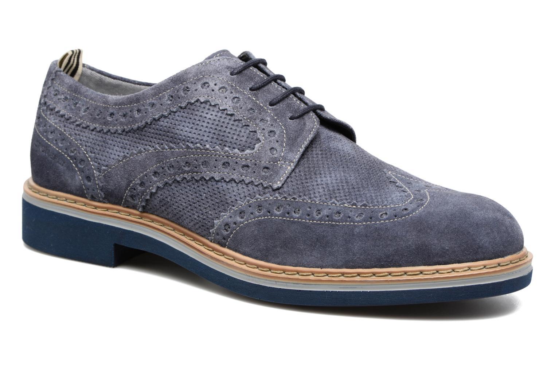 Zapatos con cordones Stonefly Alby 1 Azul vista de detalle / par