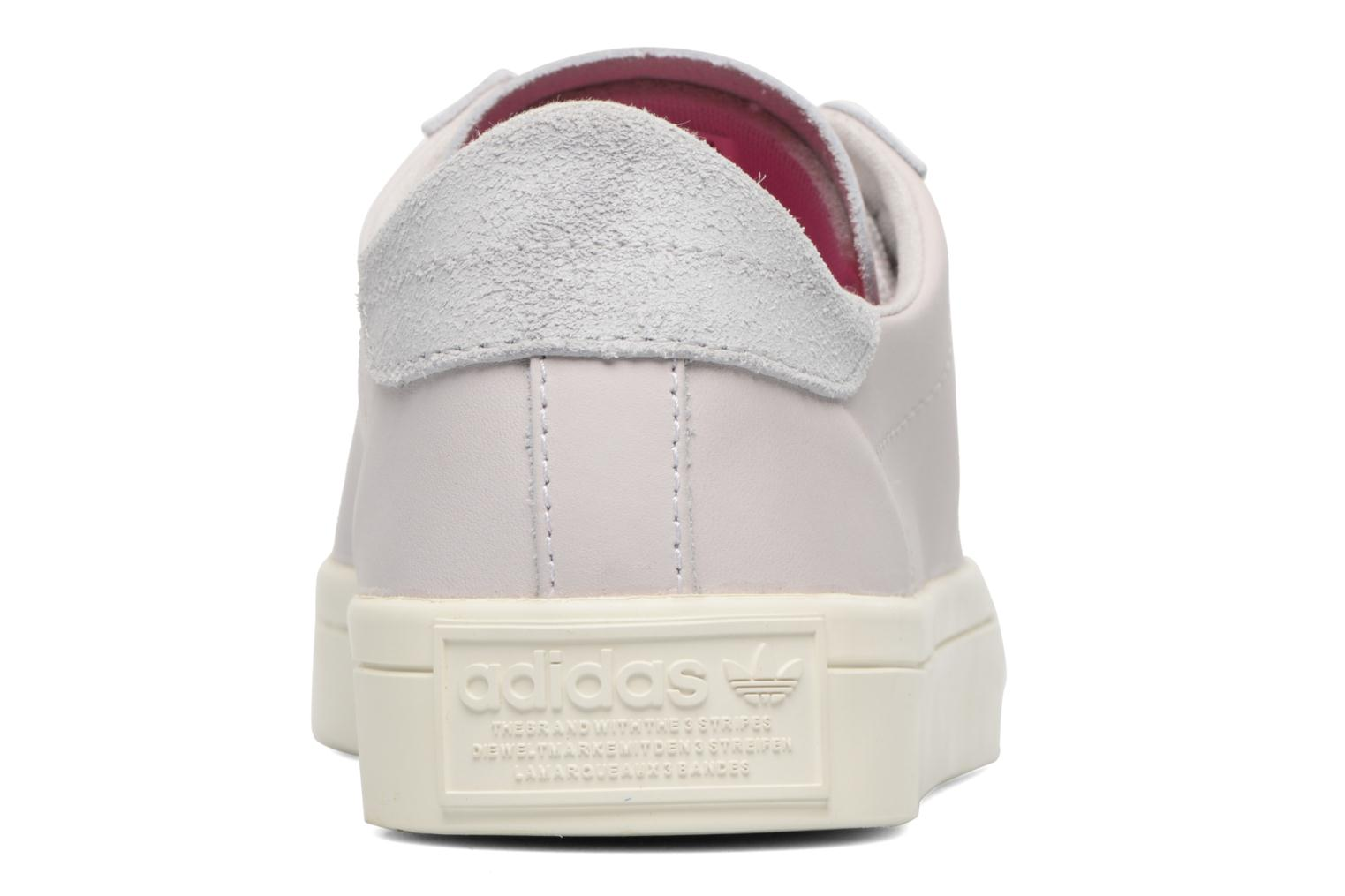 Baskets Adidas Originals Courtvantage W Gris vue droite