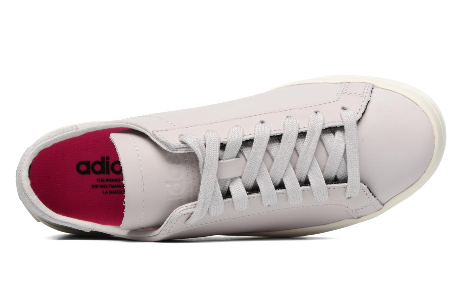 Baskets Adidas Originals Courtvantage W Gris vue gauche