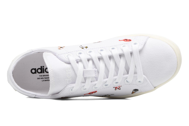 Deportivas Adidas Originals Courtvantage W Blanco vista lateral izquierda