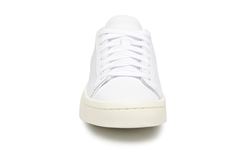 Sneaker Adidas Originals Courtvantage W weiß schuhe getragen