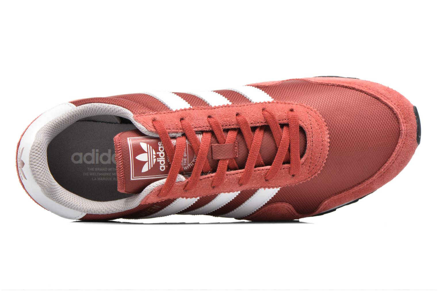 Baskets Adidas Originals Haven Rouge vue gauche