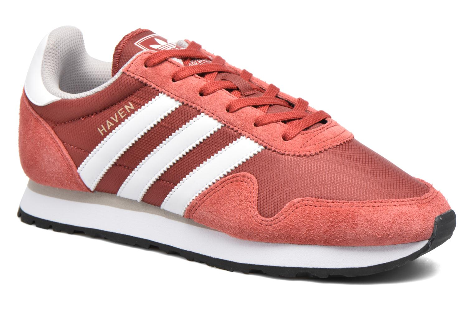 Baskets Adidas Originals Haven Rouge vue détail/paire