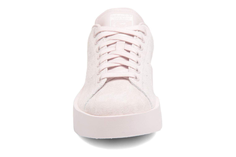Baskets Adidas Originals Stan Smith Bold W Rose vue portées chaussures