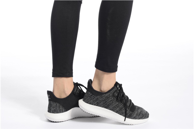 Baskets Adidas Originals Tubular Shadow Knit W Blanc vue bas / vue portée sac