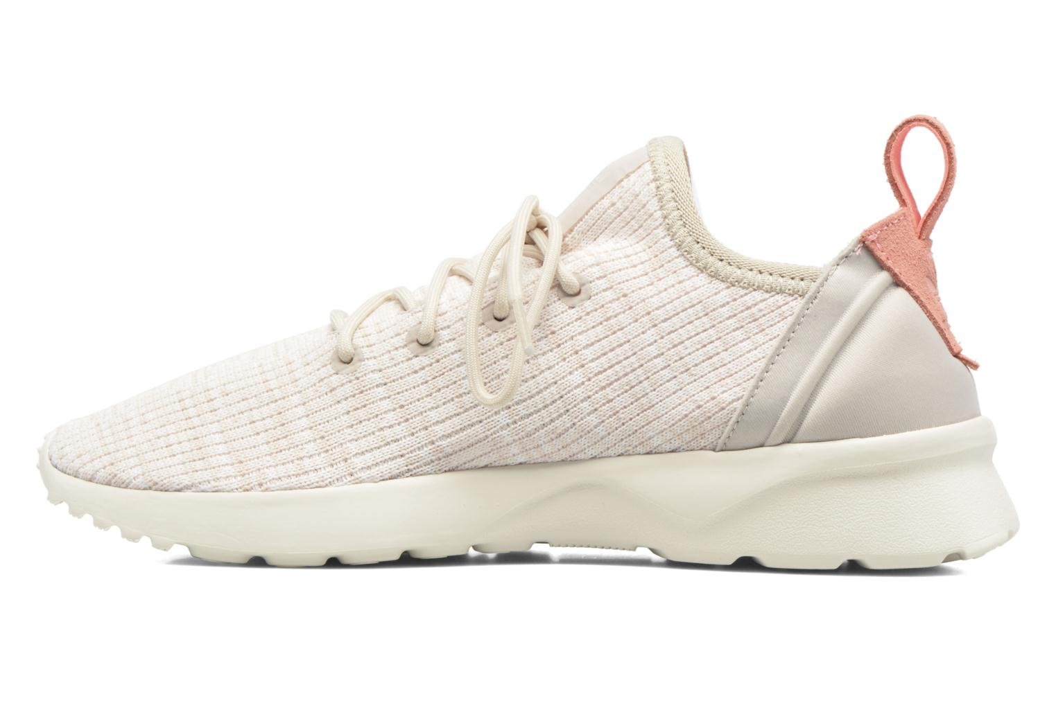Deportivas Adidas Originals Zx Flux Adv Virtue Sock W Beige vista de frente