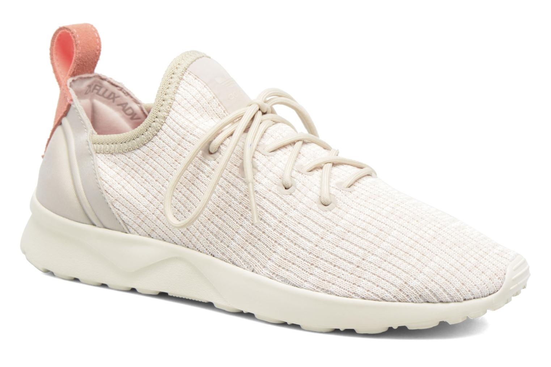 Sneakers Adidas Originals Zx Flux Adv Virtue Sock W Beige detaljeret billede af skoene