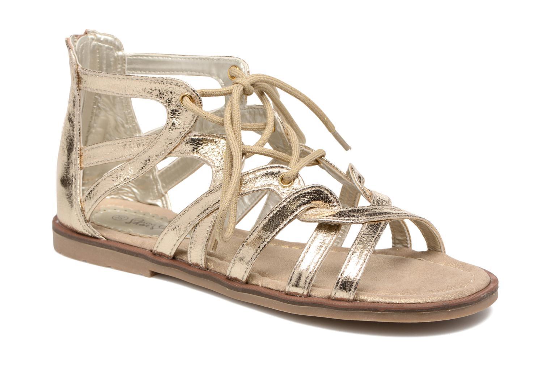 Sandalias I Love Shoes SUMINIGLI Oro y bronce vista de detalle / par