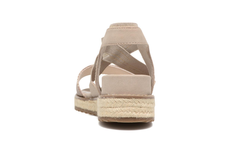 Sandalias Jana shoes Meli Marrón vista lateral derecha