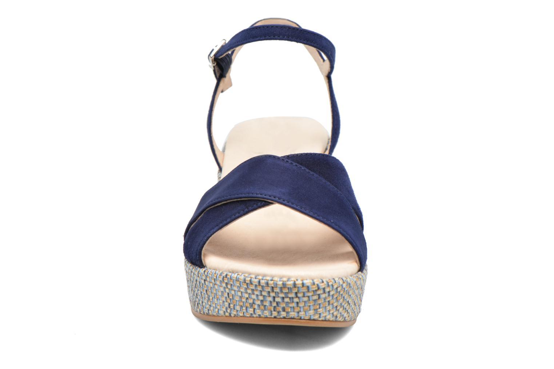 Sandales et nu-pieds HE Spring Lilou Bleu vue portées chaussures