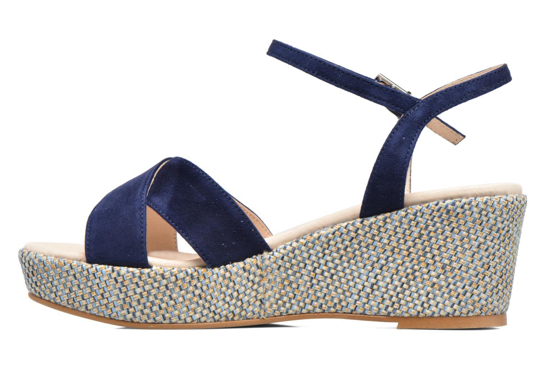 Sandales et nu-pieds HE Spring Lilou Bleu vue face