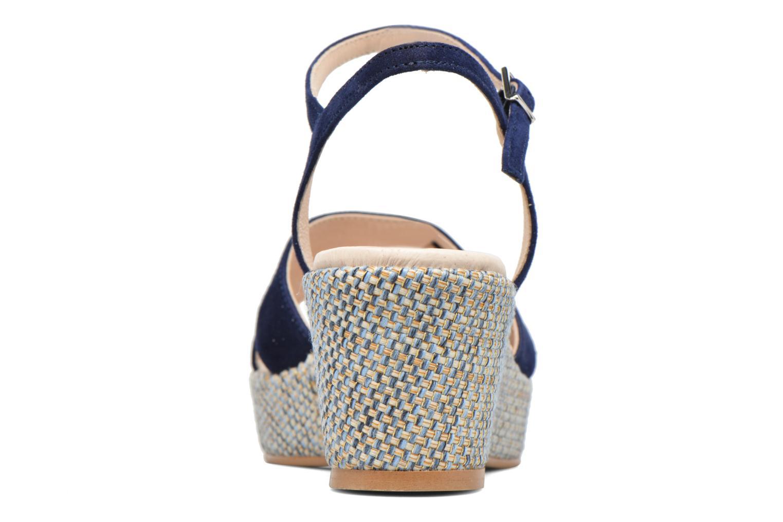 Sandales et nu-pieds HE Spring Lilou Bleu vue droite