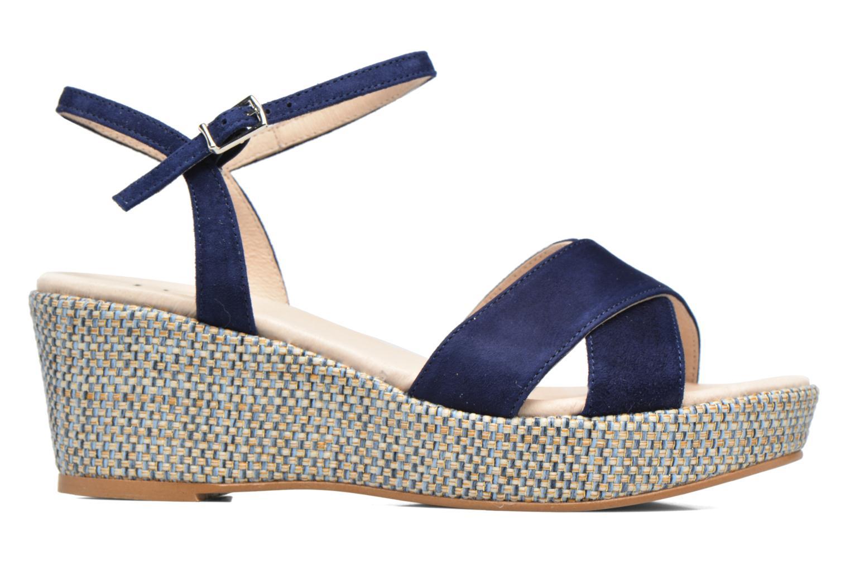 Sandales et nu-pieds HE Spring Lilou Bleu vue derrière