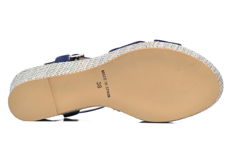 Sandales et nu-pieds HE Spring Lilou Bleu vue haut