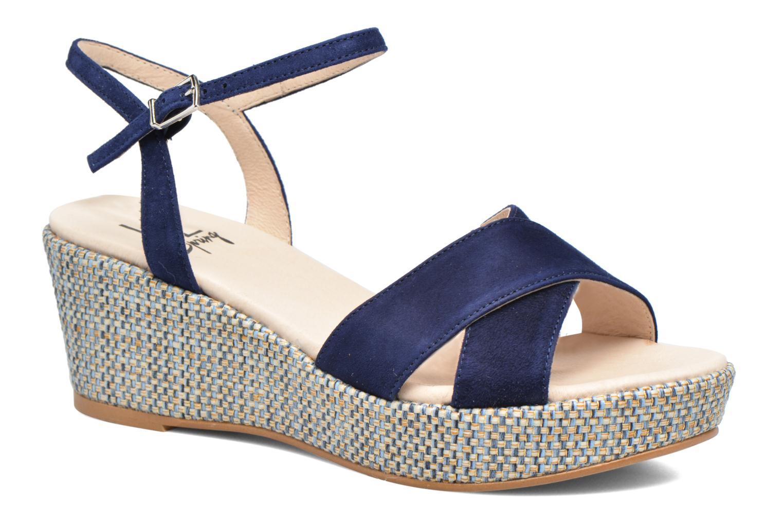 Sandales et nu-pieds HE Spring Lilou Bleu vue détail/paire