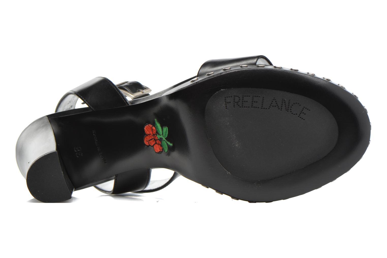 Sandales et nu-pieds Free Lance Eve 7 Ankle Line Deco Rivet Noir vue haut