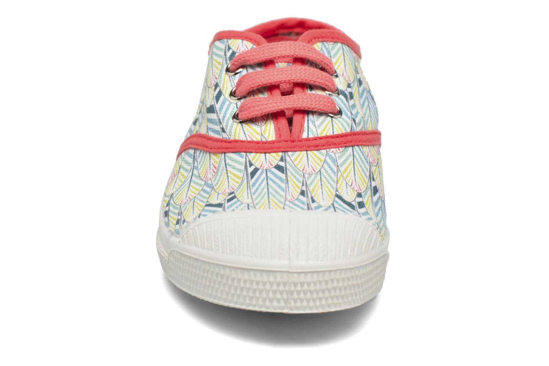 Baskets Bensimon Tennis Lacets Plumes E Multicolore vue portées chaussures