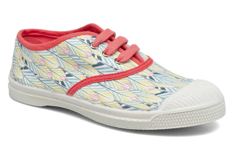 Baskets Bensimon Tennis Lacets Plumes E Multicolore vue détail/paire