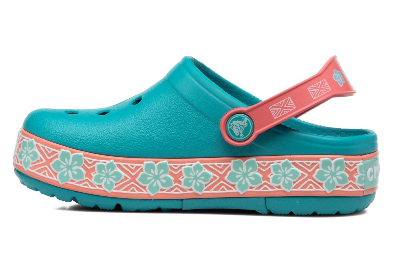 Sandales et nu-pieds Crocs Crocs Funlab Vaiana Clog LIGHTS Bleu vue face