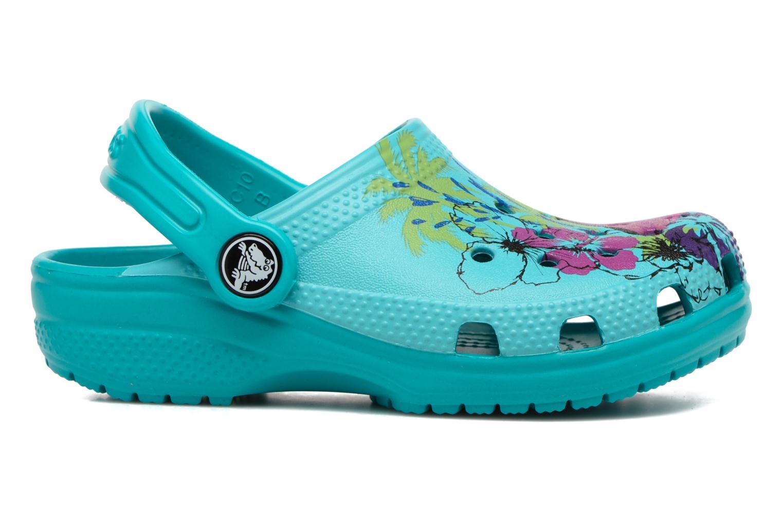 Sandales et nu-pieds Crocs Classic Clog Graphic Kids Bleu vue derrière