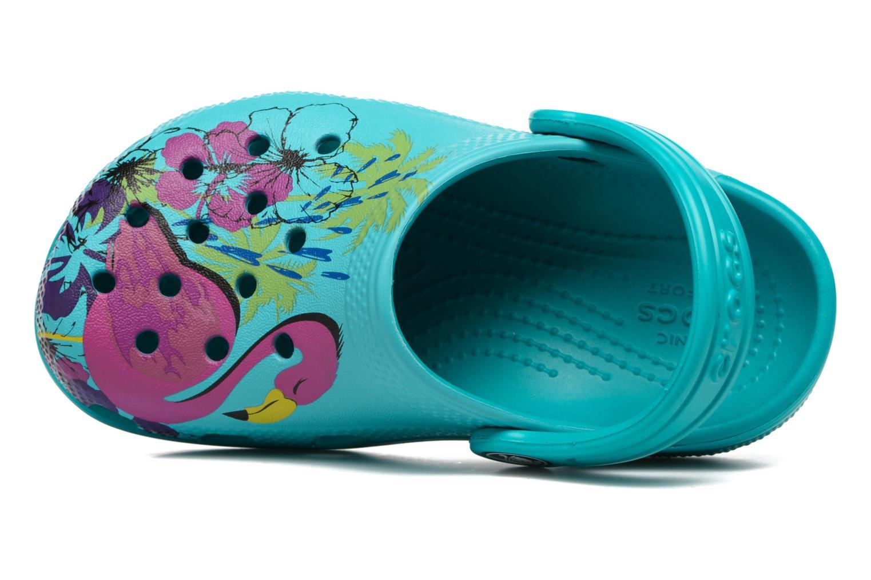 Sandales et nu-pieds Crocs Classic Clog Graphic Kids Bleu vue gauche