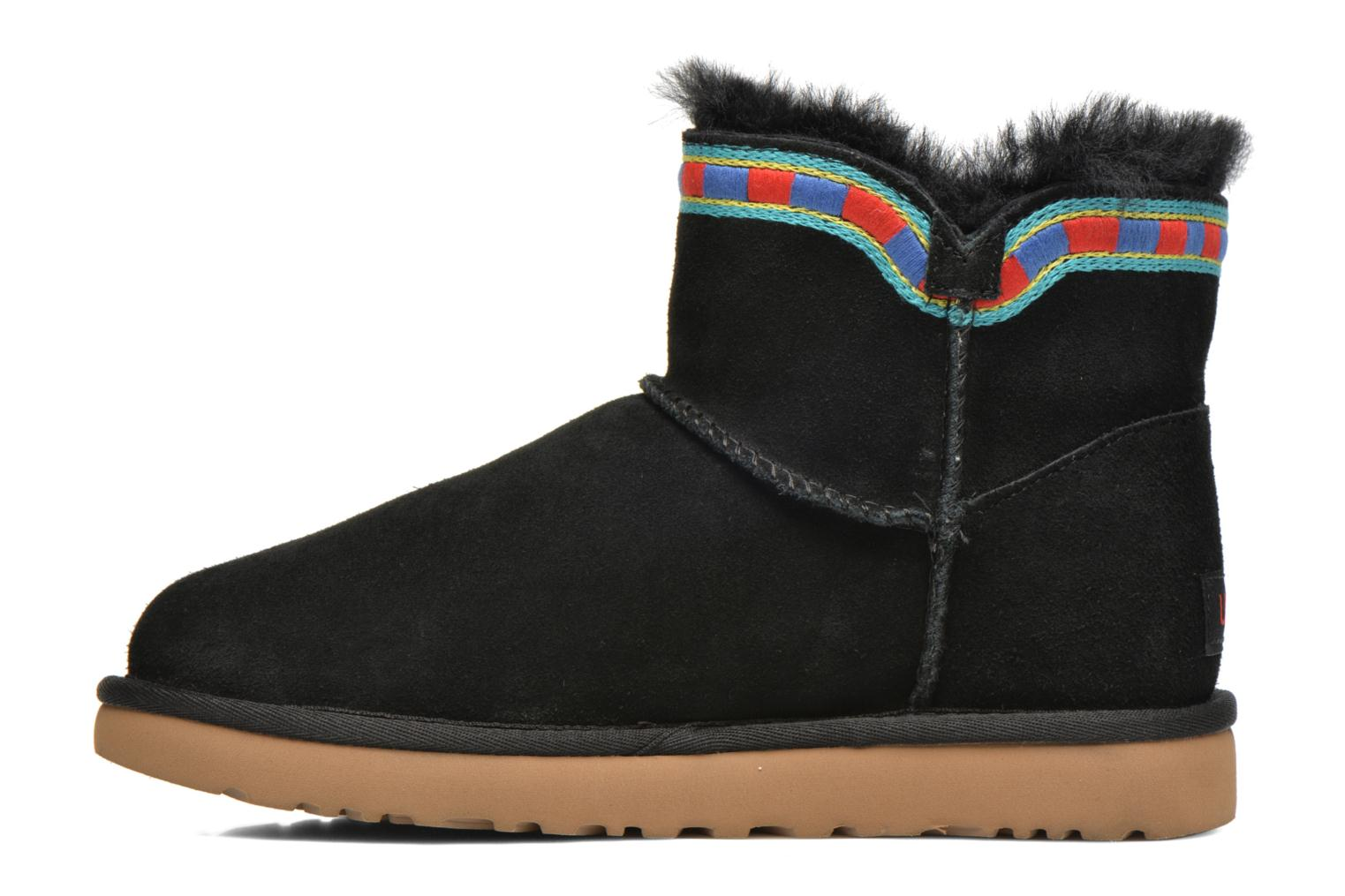 Bottines et boots UGG ROSAMARIA EMBROIDERY Noir vue face