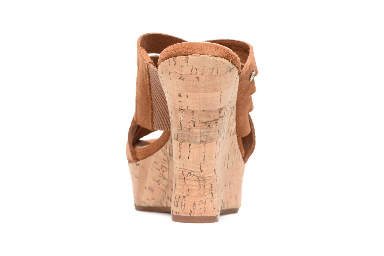 Sandales et nu-pieds UGG W Marta Marron vue droite