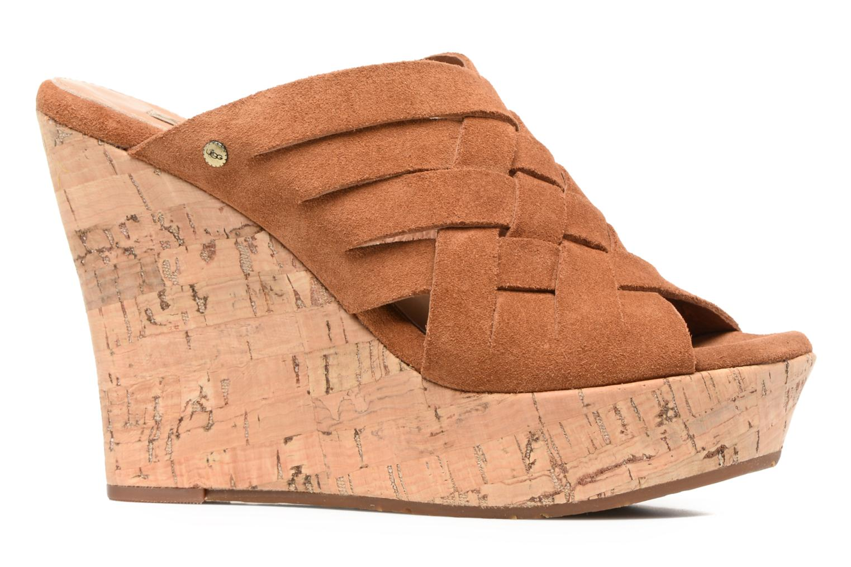 Sandales et nu-pieds UGG W Marta Marron vue derrière