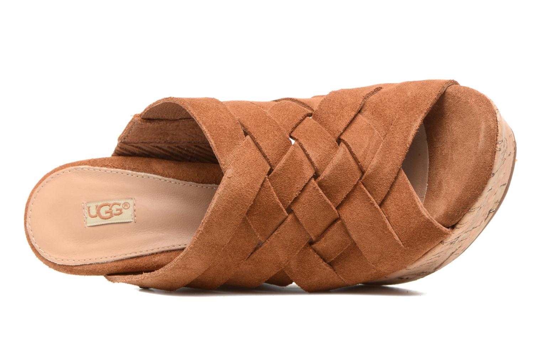 Sandales et nu-pieds UGG W Marta Marron vue gauche
