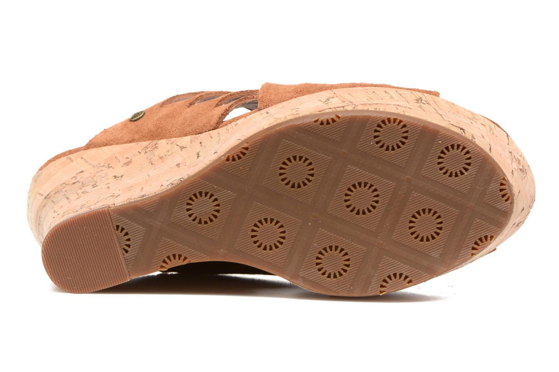 Sandales et nu-pieds UGG W Marta Marron vue haut