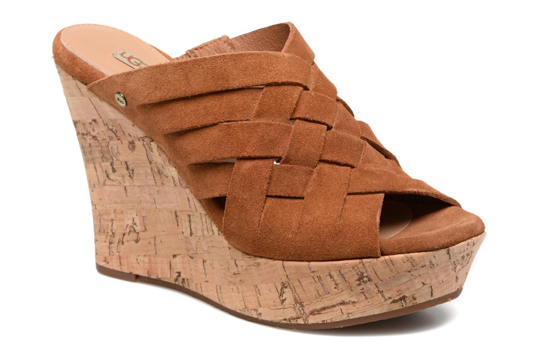 Sandales et nu-pieds UGG W Marta Marron vue détail/paire