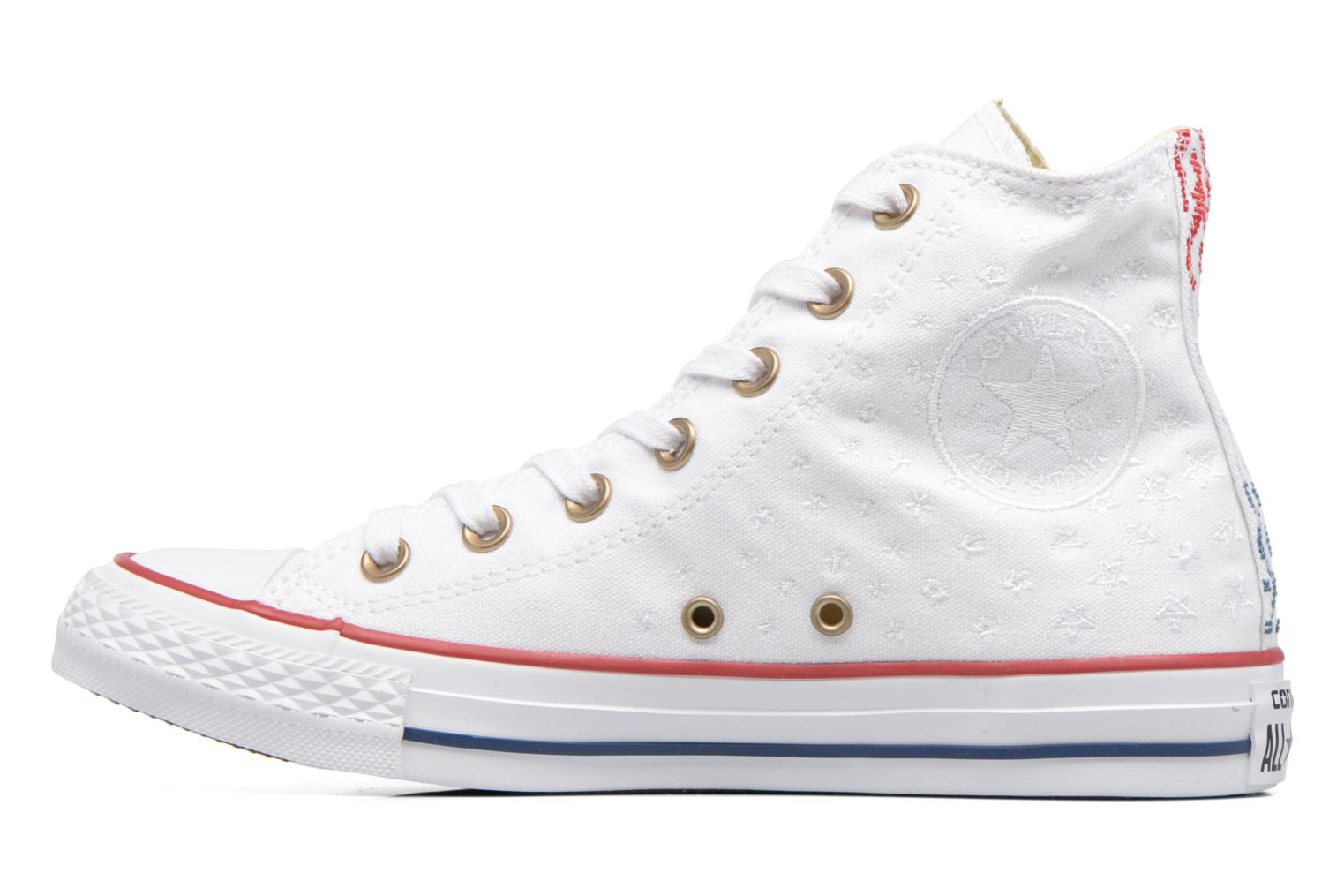 Baskets Converse Chuck Taylor All Star Hi Americana Embroidery Blanc vue face