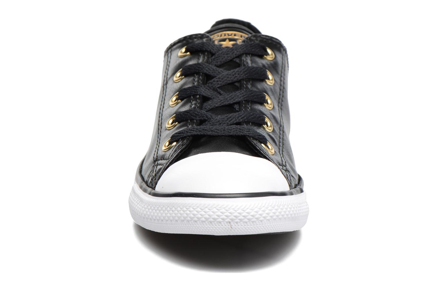 Sneaker Converse Chuck Taylor All Star Dainty Ox Craft SL schwarz schuhe getragen