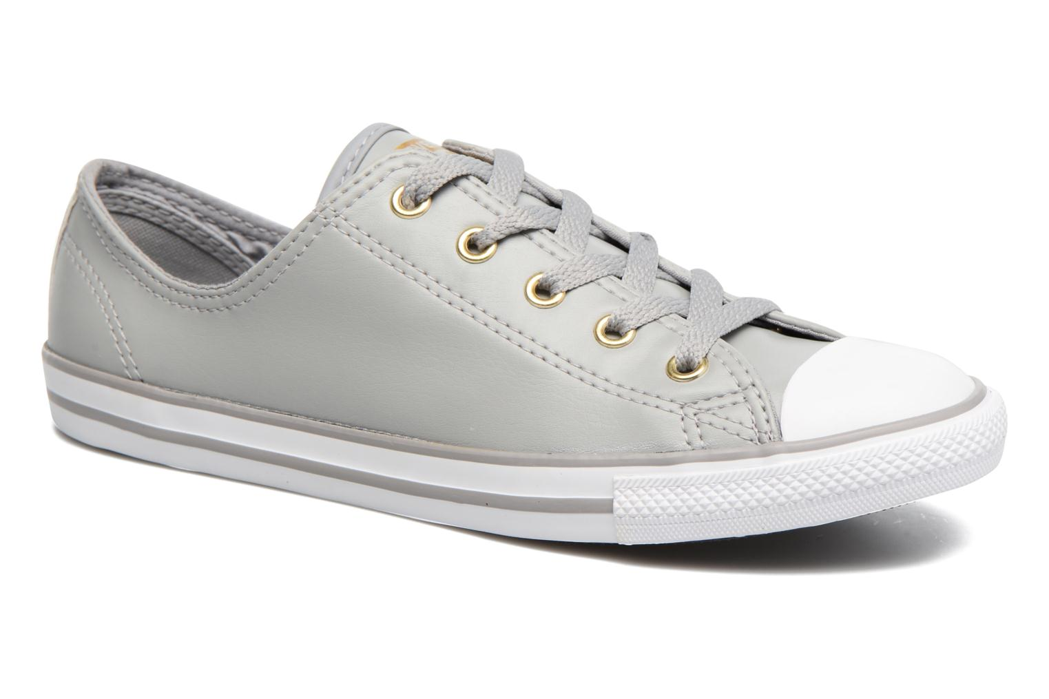 Baskets Converse Chuck Taylor All Star Dainty Ox Craft SL Gris vue détail/paire