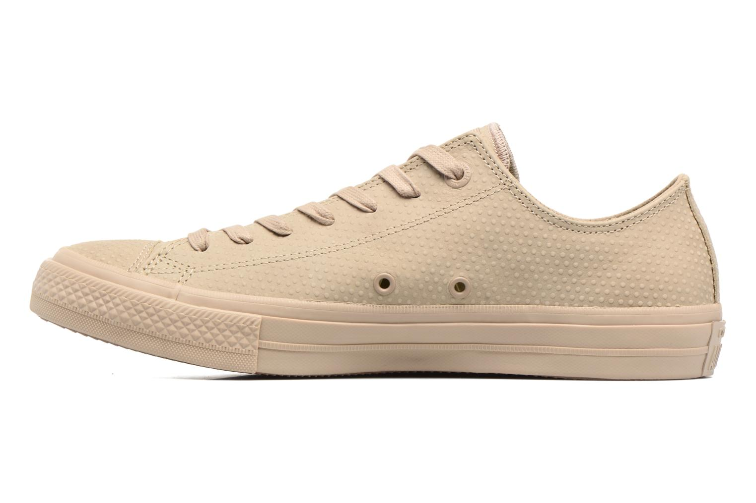 Sneakers Converse Chuck Taylor All Star II Ox Lux Leather Beige immagine frontale
