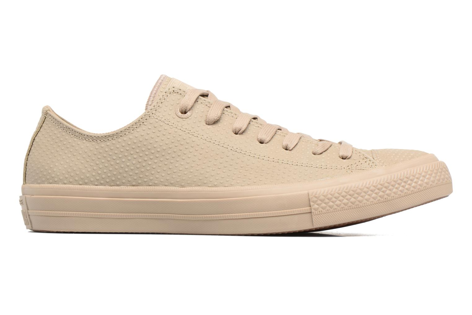 Sneakers Converse Chuck Taylor All Star II Ox Lux Leather Beige immagine posteriore