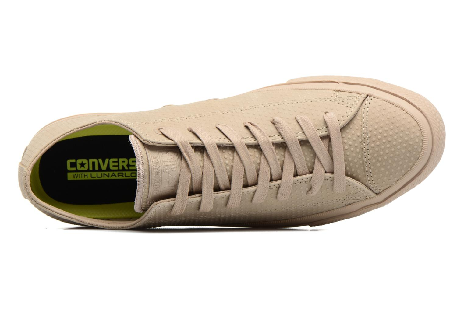 Sneakers Converse Chuck Taylor All Star II Ox Lux Leather Beige immagine sinistra
