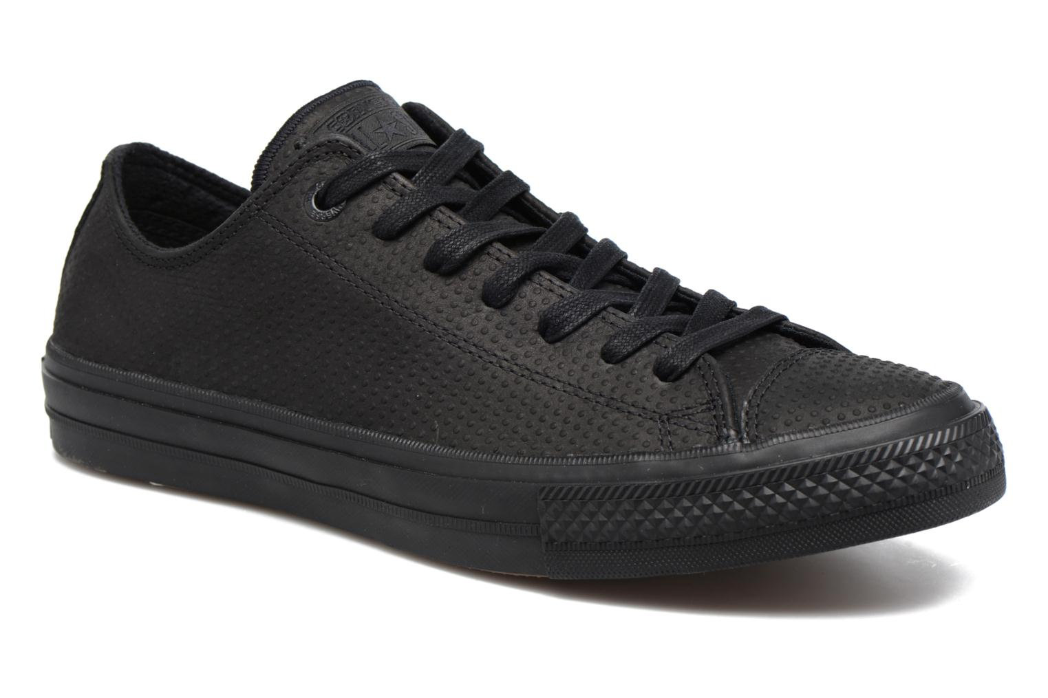 Baskets Converse Chuck Taylor All Star II Ox Lux Leather Noir vue détail/paire