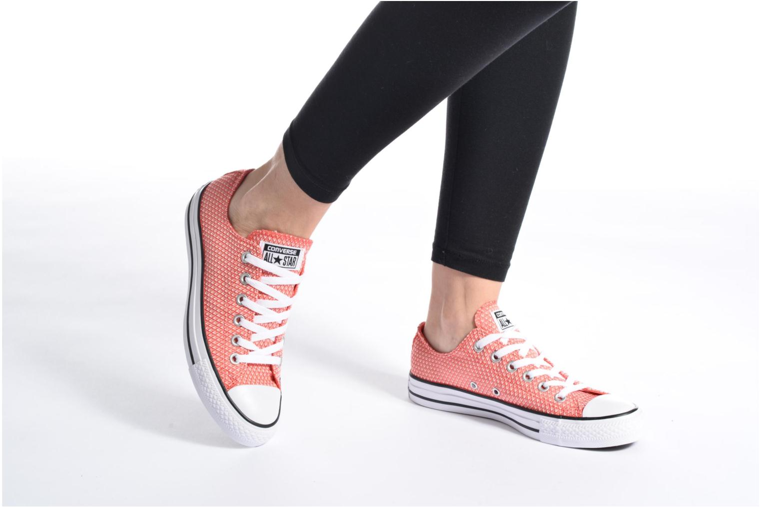 Sneakers Converse Chuck Taylor All Star Ox Snake Woven Viola immagine dal basso