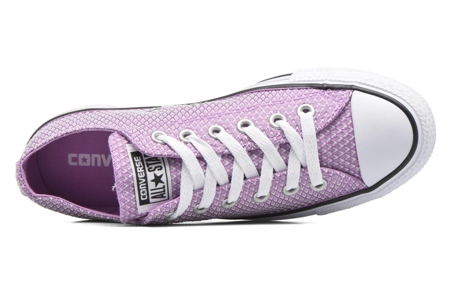 Sneakers Converse Chuck Taylor All Star Ox Snake Woven Viola immagine sinistra