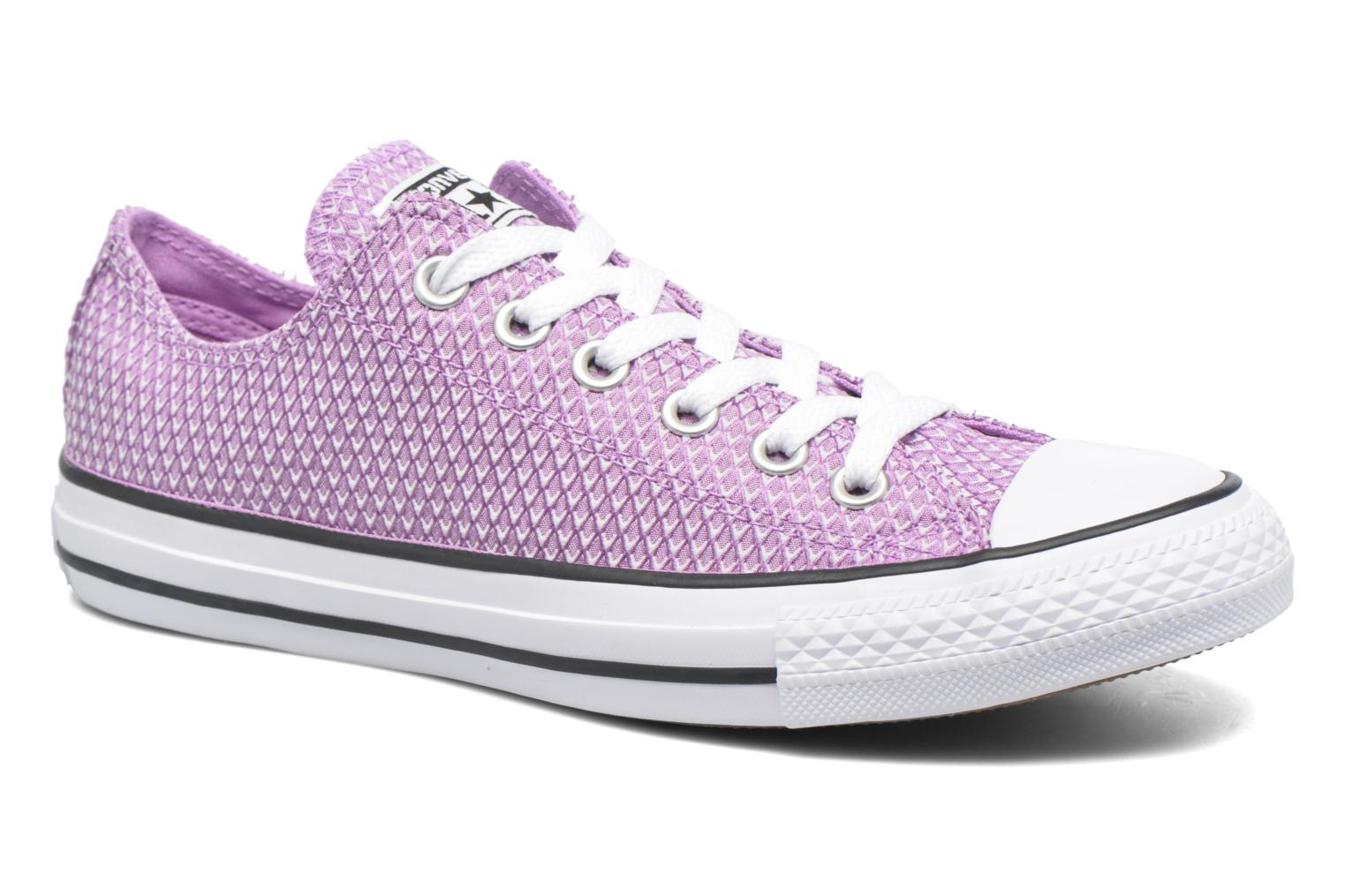Baskets Converse Chuck Taylor All Star Ox Snake Woven Violet vue détail/paire