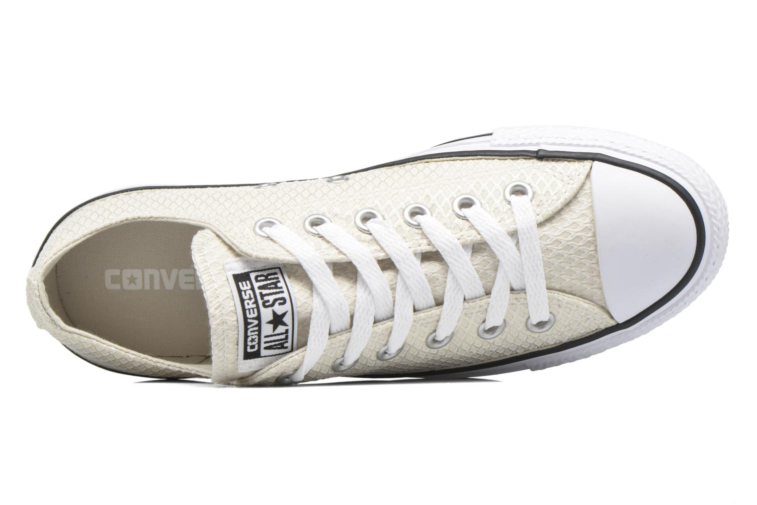 Sneakers Converse Chuck Taylor All Star Ox Snake Woven Beige immagine sinistra