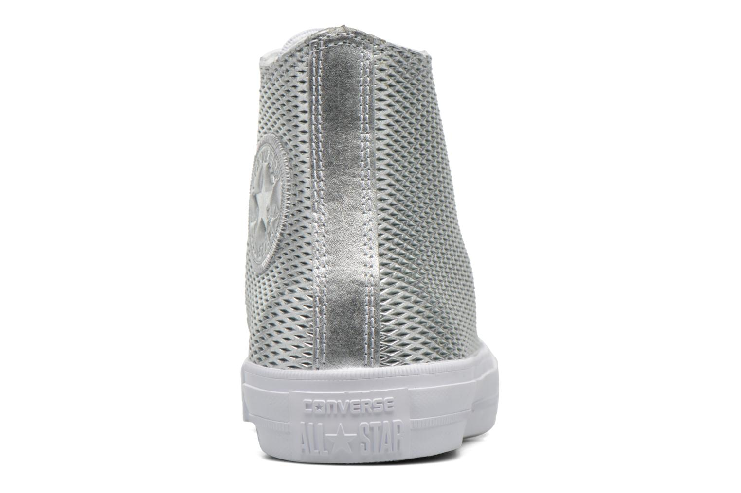 Baskets Converse Chuck Taylor All Star II Hi Perf Metallic Leather Argent vue droite
