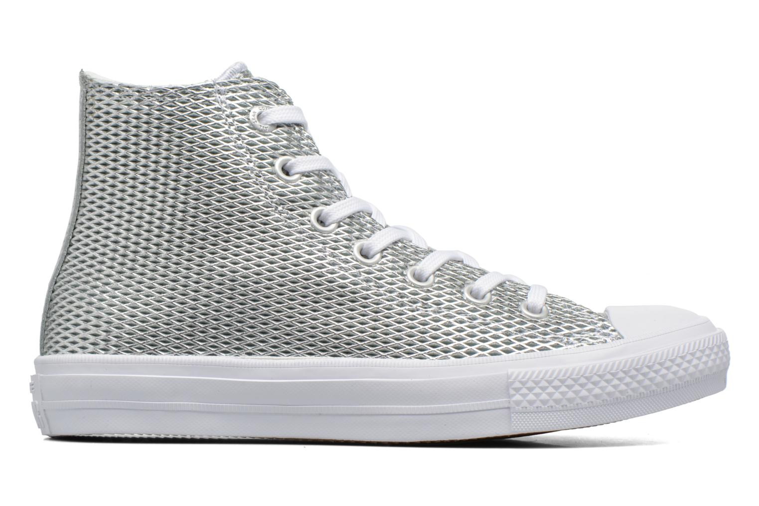 Baskets Converse Chuck Taylor All Star II Hi Perf Metallic Leather Argent vue derrière