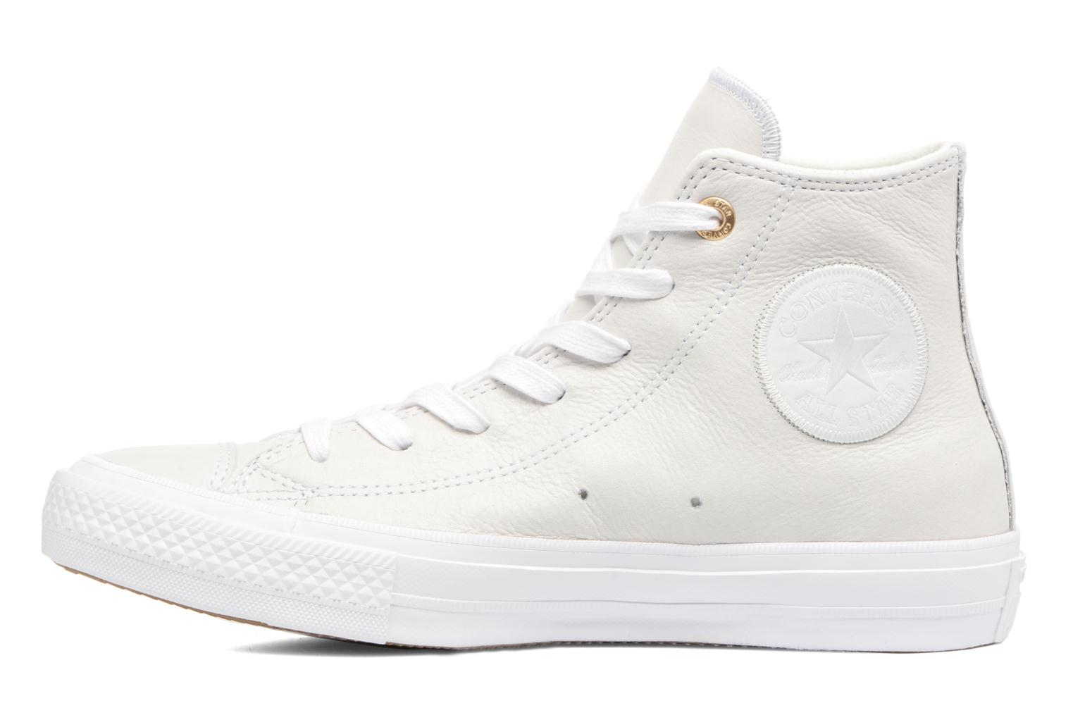 Baskets Converse Chuck Taylor All Star II Hi Craft Leather Beige vue face