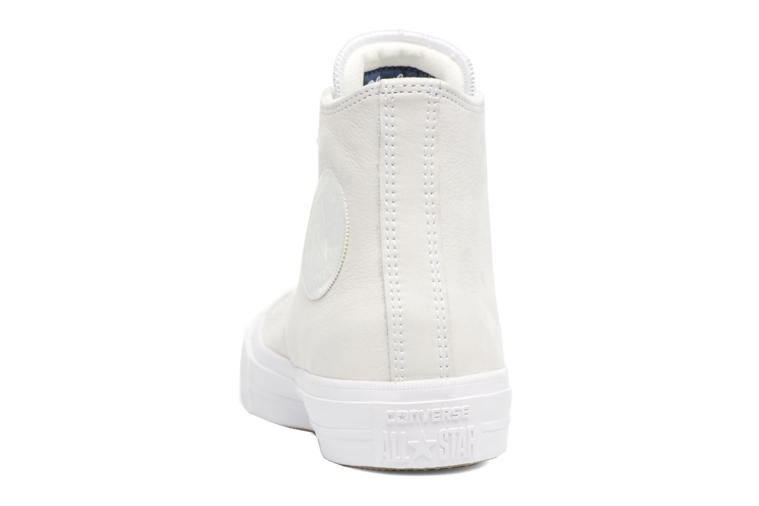 Baskets Converse Chuck Taylor All Star II Hi Craft Leather Beige vue droite
