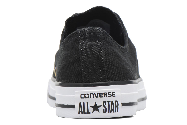 Baskets Converse Chuck Taylor All Star Ox Metallic Toecap Noir vue droite